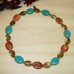Susen Foster Goldplated 'Aladdin's Lamp' Turquoise Necklace