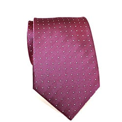 H. Luzzario & Co. Men's Silk Fuchsia DotTie