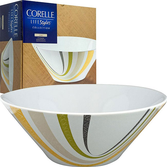 Corelle LifeStyles Collection Line Serving Bowl
