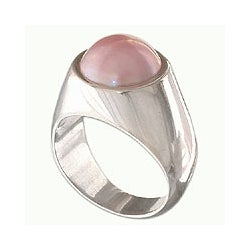 Sterling Silver 'Rose Dome' Pearl Dome Ring (14 mm) (Indonesia)