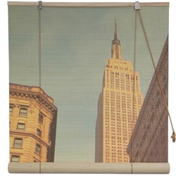 Bamboo Empire State Building Window Blinds (60 in. x 72 in.) (China)