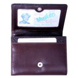 Leatherbay Women's Brown Leather Accordian Wallet