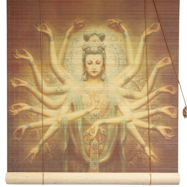 Bamboo 'Thousand Arm Kwan Yin' Window Blinds (60 in. x 72 in.) (China)