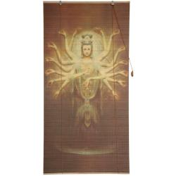 Bamboo Thousand Arm Kwan Yin Window Blinds (72 in. x 72 in.) (China)