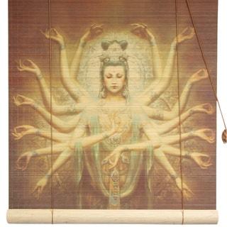 Bamboo Thousand Arm Kwan Yin Window Blinds (72 in. x 72 in.) (China)