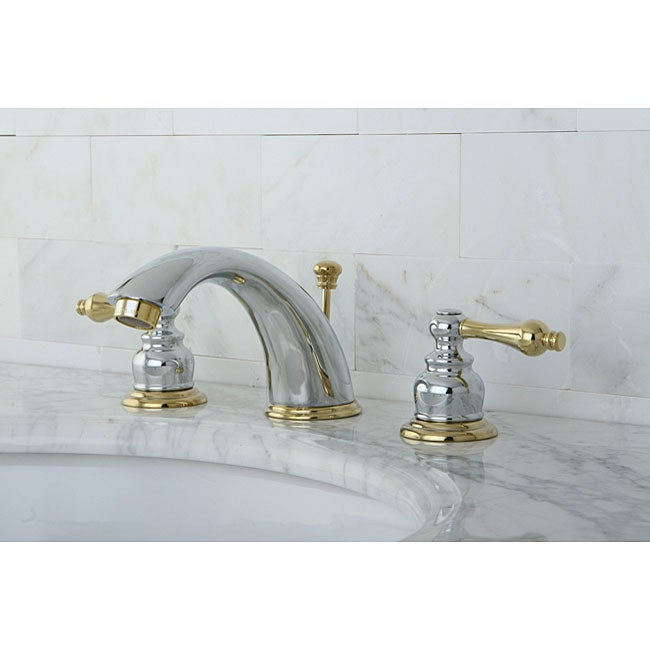 Victorian Chrome/ Polished Brass Widespread Bathroom Faucet