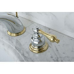 Victorian Chrome/ Polished Brass Widespread Bathroom Faucet ...