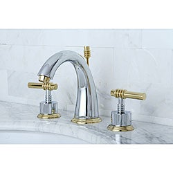 Chrome/ Polished Brass Widespread Bathroom Faucet - 10488478 ...