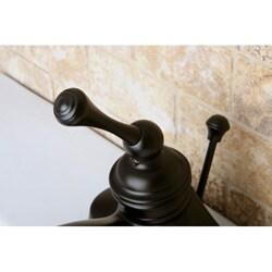Vintage Oil Rubbed Bronze 4-inch Centerset Metal Bathroom Faucet