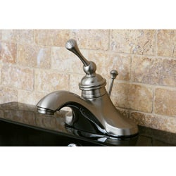 Vintage Satin Nickel 4-inch Centerset Metal Bathroom Faucet