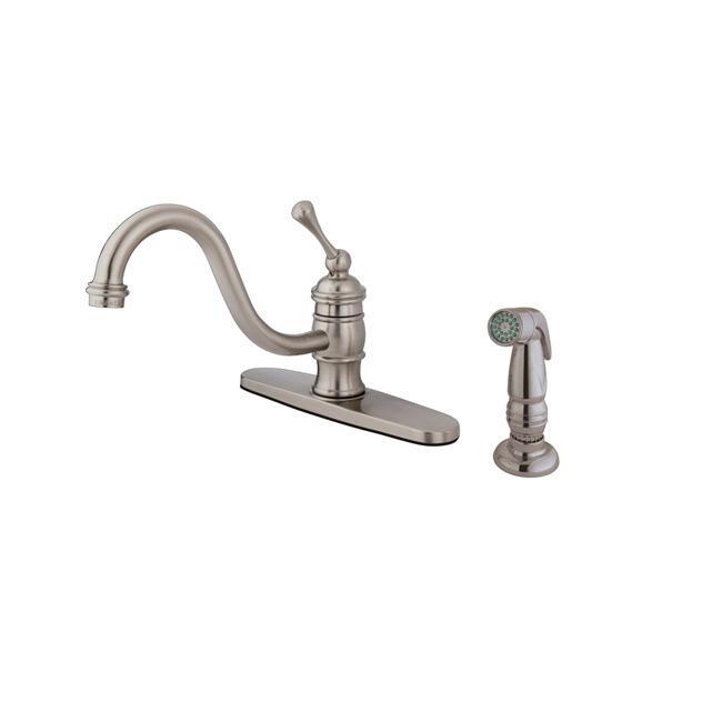Vintage Satin Nickel 8-inch Centerset Kitchen Faucet - 13431525 ...