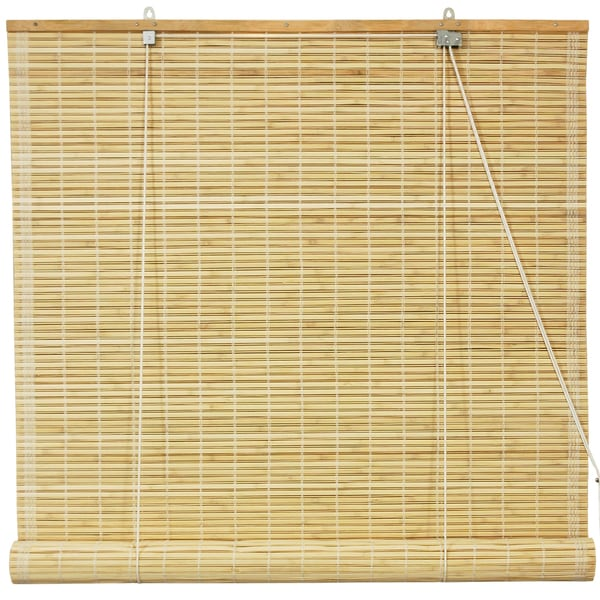 Bamboo Natural Roll-up Window Blinds (72 in. x 72 in.) (China)