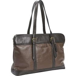 Leatherbay Two-tone Leather Laptop Messenger Bag