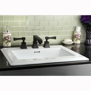 Towne Square Oil Rubbed Bronze Widespread Bathroom Faucet