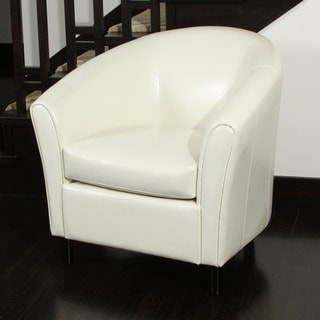 Christopher Knight Home Preston Bonded Leather Ivory Club Chair