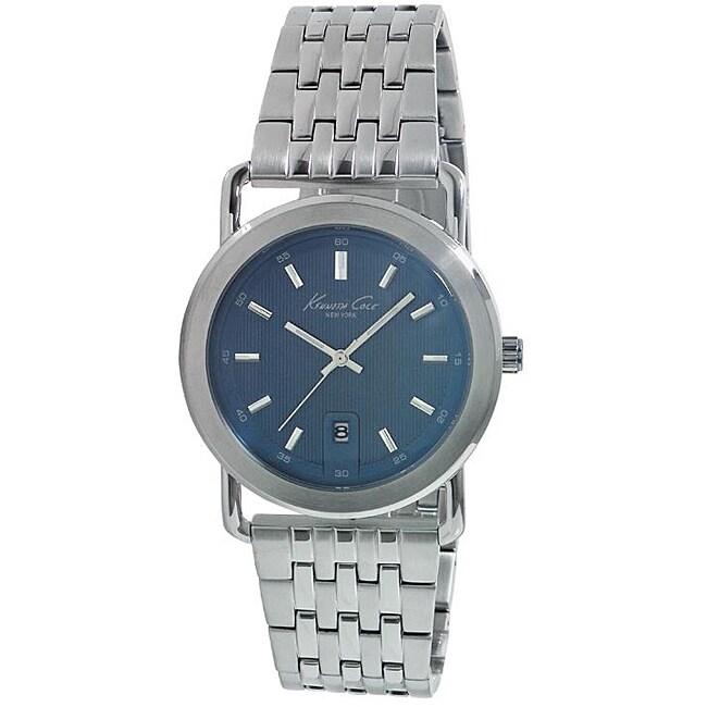 Kenneth Cole Men's Silvertone Blue Dial Watch