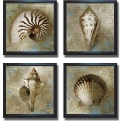 Keith Mallett 'Nautical Souvenirs' Framed 4-piece Canvas Art Set