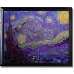 Vincent Van Gogh 'Starry Night' Framed Canvas Art