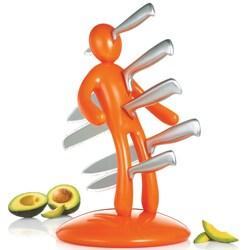 The Ex 2nd Edition Orange 5-piece Kitchen Knife Set