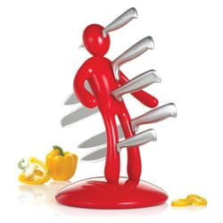 The Ex 2nd Edition Red 5-piece Kitchen Knife Set