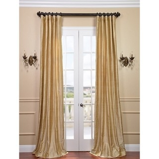 Signature Biscotti Textured Silk Curtain Panel