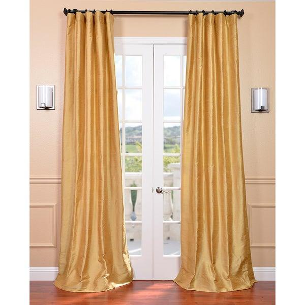 Signature Sunrise Gold Textured Silk Curtain Panel