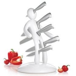 The Ex 2nd Edition White 5-piece Kitchen Knife Set