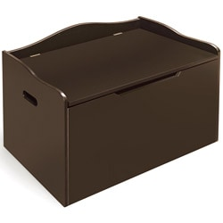 Espresso Bench Top Toy Chest