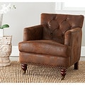 Safavieh Manchester Antiqued Brown Club Chair