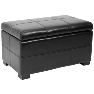 Safavieh Madison Black Bicast Leather Indoor Storage Bench