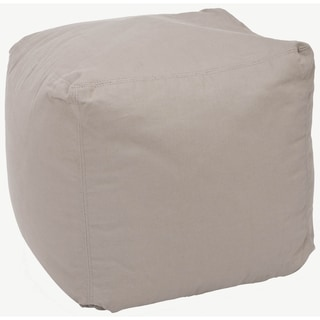 Safavieh Square Poof Beige Bean Bag
