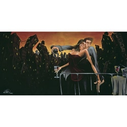 David Garibaldi 'City Lights Love' Gallery-wrapped Giclee Canvas Art