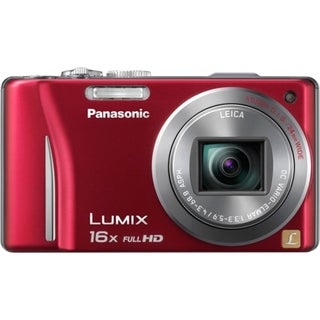 Panasonic Lumix DMC-ZS10 14.1 Megapixel Compact Camera - Red