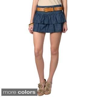 Ci Sono by Journee Junior's Denim Tier Skirt