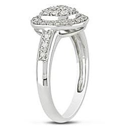 10k White Gold 1/4ct TDW Diamond Fashion Halo Ring (G-H, I2-I3)