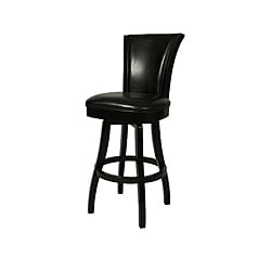 Glenwood Feher Black 30-inch Wood Swivel Bar Stool