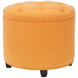 Safavieh Zoey Orange Tufted Ottoman