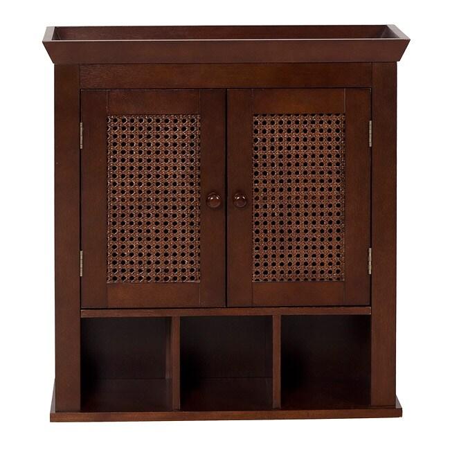 Jasper dark espresso wall storage cabinet by elegant home fashions 13434752 - Dark espresso bathroom wall cabinet ...