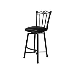 Laguna Matte Black 30-inch Swivel Bar Stool