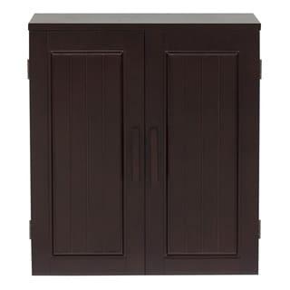 Essential Home Furnishings Covington Dark Birch Wall Cabinet