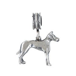 Sterling Essentials Doberman Dangle Charm