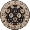 Hand-tufted Coliseum Black Wool Rug (6' Round)