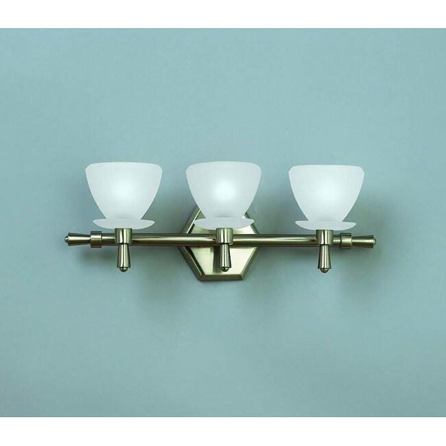 Brushed Nickel 3-light Vanity Fixture