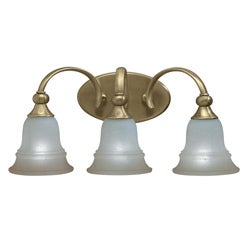 Traditional Olde Bronze Three-Light Vanity Fixture