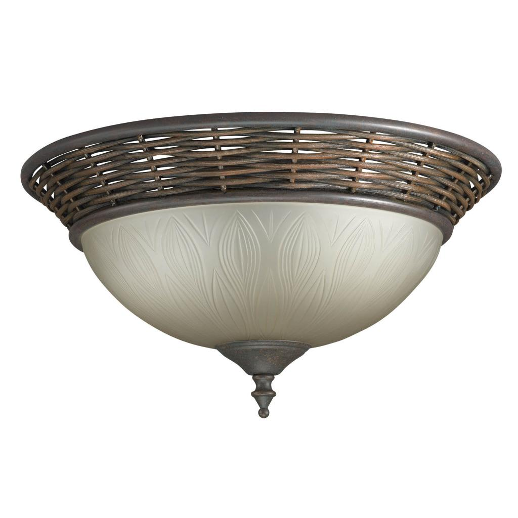 bronze flush mount 2 light fixture 13436778 overstock