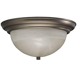 Cashmere Flush Mount Alabaster Glass 2-light Fixture
