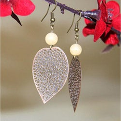 Susen Foster Bronze-plated Agate 'Seasons of Change' Earrings