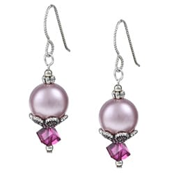 MSDjCASANOVA Argentium Silver Everything Pink Crystal Earrings