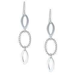 MSDjCASANOVA Silverplated Triple Loop Dangle Earrings