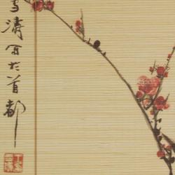 Bamboo Sakura Blossom Blinds (24 in. x 72 in.) (China)